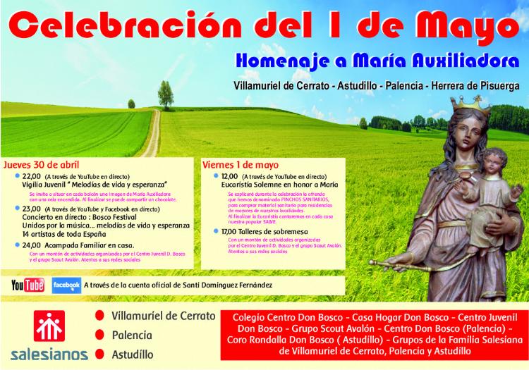 """1 de mayo: """"37 Marcha Peregrinación"""" de María Auxiliadora"""