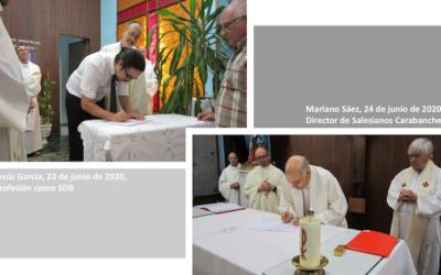 Dos firmas de compromiso con la misión salesiana en la Casa de Carabanchel