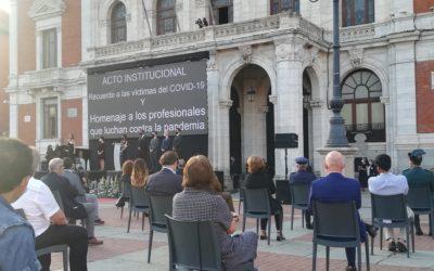 JuanSoñador en el homenaje a las víctimas del COVID-19 en Valladolid