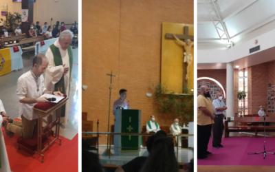 Tres jóvenes renuevan su profesión religiosa para seguir al servicio de los jóvenes