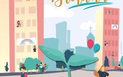 Jota Llorente pensó en la paleta pastel y tipografía suave para la Campaña Pastoral