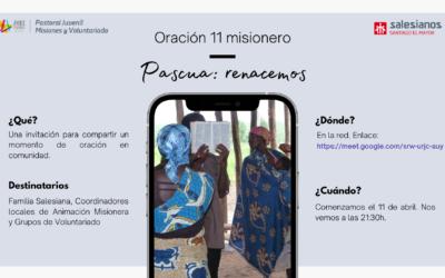 """""""Oración 11 misionero online"""", nueva iniciativa Inspectorial"""