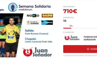 15k Nocturna Ourense ayuda a Fundación JuanSoñador